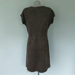 C&C California Dresses - Short sleeve suede festival dress